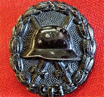 Ww1 Germany Wound Badge Medal In Black For Wounds In Combat