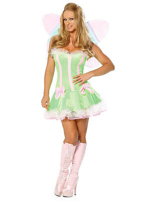 Sexy Fée de Forêt Costume TAILLE XS S Carnaval Elfe Fée Nymphe