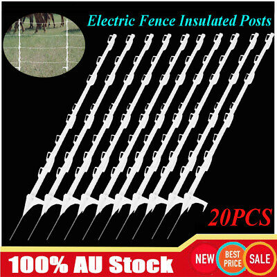 20Pcs Insulated Electric Poly Posts Tread In Poly Posts Wire Tape Post Graze