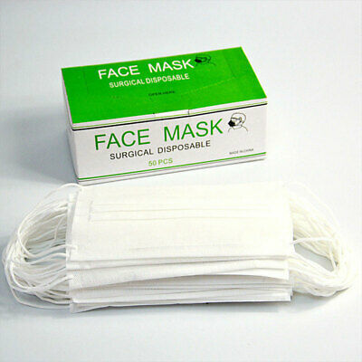 50 PCS Disposable Face Mask Anti Dust Medical Surgical Respirator Breathable