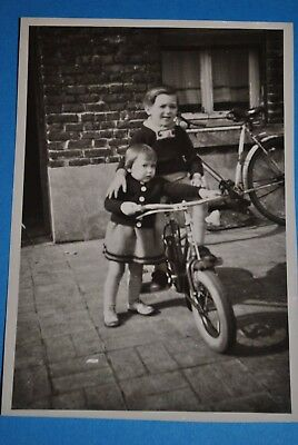 Ancienne Photo Original foto Vélo Enfants Fiets Cycle  写真 фото 照片