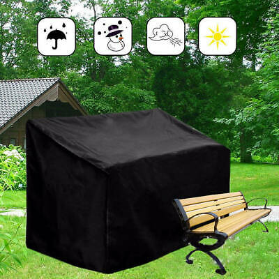 Waterproof 2/3-Seater Bench Cover Outdoor Garden Patio Furniture Dust Protection