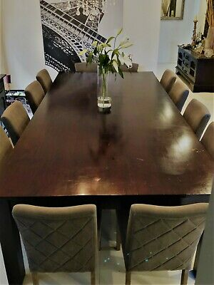 Large solid timber dining / board room table 1485 x 3000 x 810mm