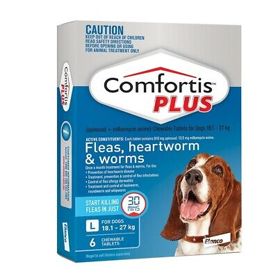 Comfortis Plus For Dogs Blue Large 18.1-27kg 6 Pack - Free Shipping