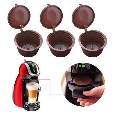 3x Reusable Coffee Capsules Filling Pod Compatible for DOLCE GUSTO Machine HS890