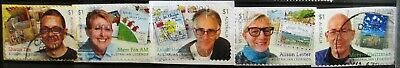 Australia 2019 Legends children's writers 5 P&S stamps fine/good used on paper