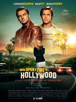 "Affiche pliée 120x160 cm ""Once Upon A Time In Hollywood"" - TARANTINO"