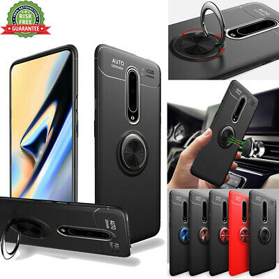 For OnePlus 7 Pro Case Shockproof Slim Soft TPU Ring Holder Stand Cover
