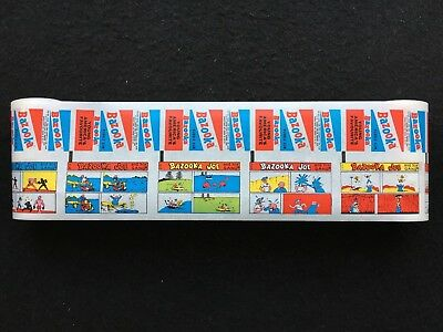 A&BC Gum 60's Bazooka Joe Wax Gum Wrapper Factory Uncut Set of 14 Comic Strips