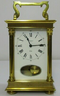 Rapport  8 Day Timepiece Brass Carriage Clock