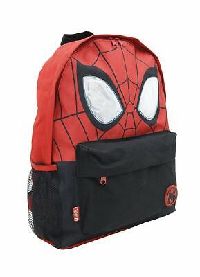 Marvel Spiderman Roxy Style Backpack With Reflective Eyes Kids School Book Bag