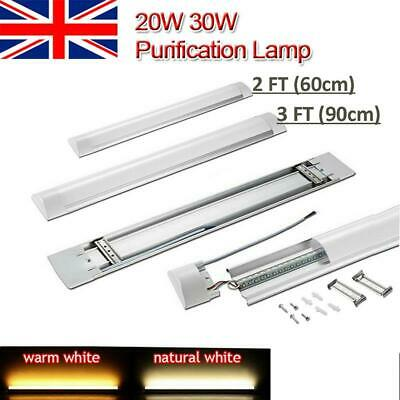 2/3FT LED Batten Tube Light Linear Slimline Panel Ceiling Lights Wall Shed Lamp