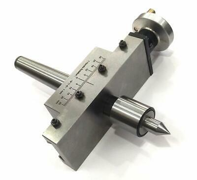 New Improved Taper Turning Attachment with REVOLVING Live Center Morse Taper MT2