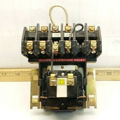 Square D Latching Lighting Contactor 120 Vac Coil 20 Amp Max 8903Ll030