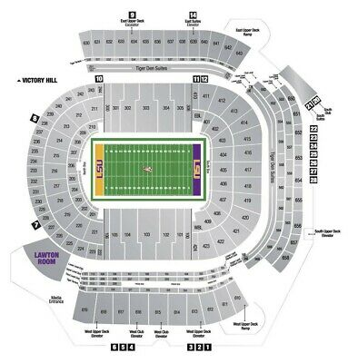 2 West Sideline 2019 LSU Season Tickets - Section 100 with PARKING PASS!