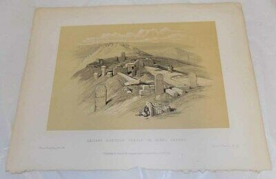 1856 Antique Print///ANCIENT EGYPTIAN TEMPLE OF HATHOR, ON GEBEL BARABE