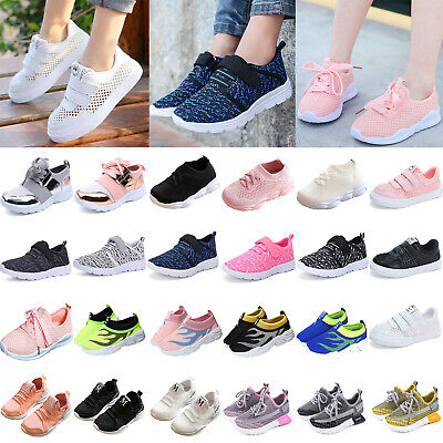 Boy Girl School Sports Trainers Pumps Sneakers Kids Jogger Shoes Casual Trainers
