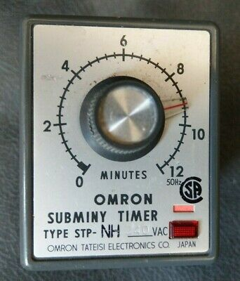 Omron STP-NH  0-12 Minute Subminy Timer 240v