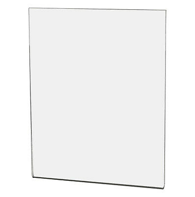 "Ad Frame Sign Holder 8""W x 10""H Wall Mount No Holes Clear Acrylic"