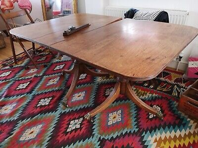 Mahogany Pedestal Dining Table With One Leaf Project