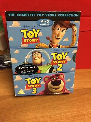 The Complete Toy Story Collection ~Toy Story 1 2 & 3 Blu-RayBox Set Disney Pixar