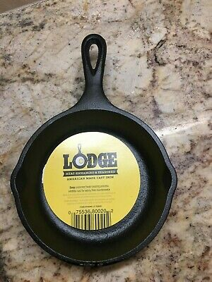 Lodge H5MS 5 inch Cast Iron Mini Skillet Pre-Seasoned- Ready to Use
