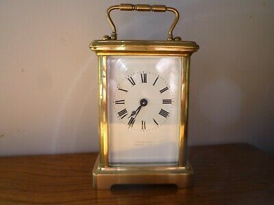 French Antique Brass Carriage Clock