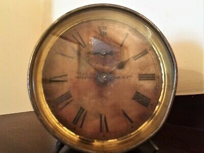 Ansonia Alarm Clock.  ( Ansonia American Clock Co. ) For Spares Or Repair.