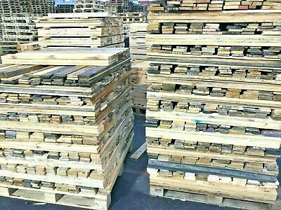 1 - 100sqm Reclaimed Pallet Boards - Timber Cladding Rustic Wood Wall Garden