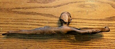 Ancient Egyptian Reproduction Cosmetic Spoon Swimming Woman Holding Dish Statue