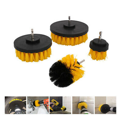 4Pcs Drill Cleaning Brush Power Drill Attachment Tile Car Cleaner Scrubber Tool