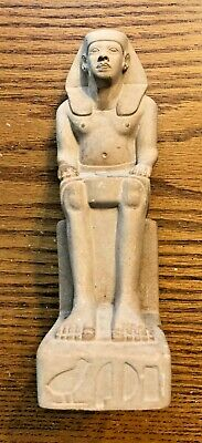 Ancient Egyptian Reproduction Seated Ramses Pharaoh Replica Statue