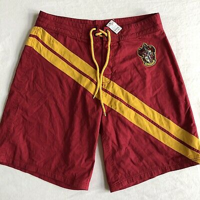 Harry Potter by Universal Studios Red Yellow Board Shorts Swim Trunks XL NEW