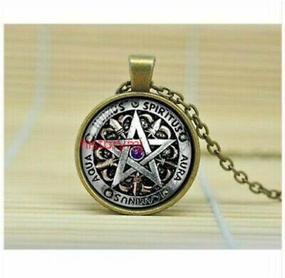 Wiccan Protection charm inspirational black magick Pagan Pentagram Necklace HOT