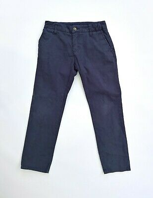 Boy's navy blue chinos trousers by Hackett of London 7-8 years