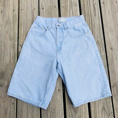 Vintage 90s Guess Jeans Made In The USA High Waisted Denim Shorts Sz 29