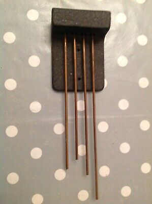 Antique Westminster 4 Rod Chime Gong Flat 32mm Tall 63mm Wide Longest Rod 215mm