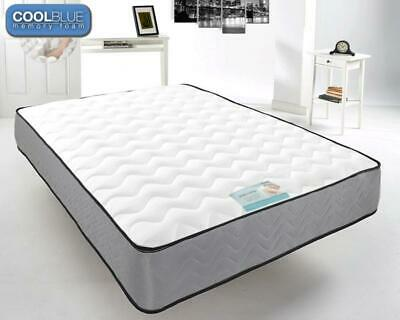 TOUCH COOL BLUE MEMORY FOAM MATTRESS Double 4Ft6 Quilted