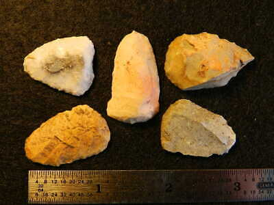 D Authentic Native American Artifact Arrowheads Knife Scraper Points