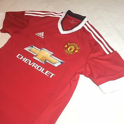 Manchester United 2015/16 Home Shirt - Adidas Climacool Technology - Small