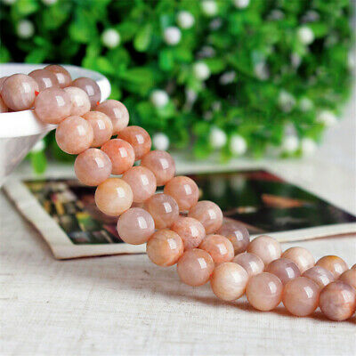 4-12mm Natural Round Sun Stone Loose Beads Diy Accessories Spacer Opaque Healing