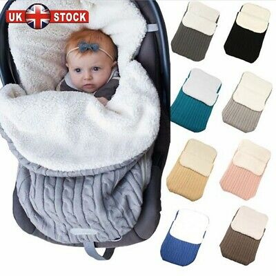 Baby Swaddle Blanket Footmuff Liner Pushchair Stroller Buggy Pram No holes UK