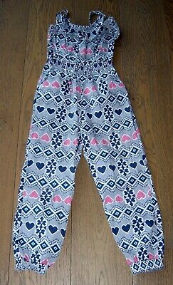 Milkshake Girls Navy And Pink All In One Jumpsuit Sz 8