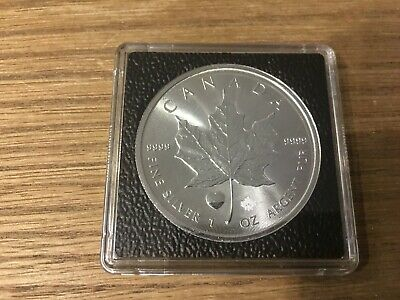 2015 Heart Privy Canada Maple Leaf 1 Troy Oz .9999 Fine Silver Round Rare Coin
