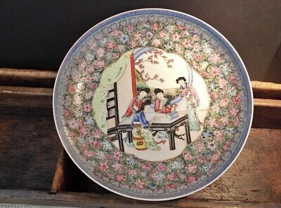 Fine Antique Chinese Porcelain Charger Plate  Jingdezhen Republic Period Marked