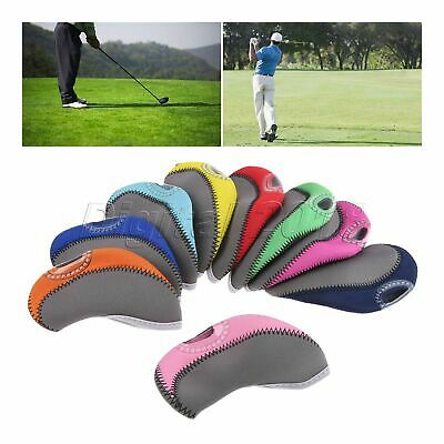 10Pcs Quality Golf Club Protective Iron Head Cover Neoprene Wedge Sock Headcover