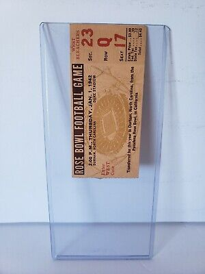 1942 Rose Bowl Ticket Stub. Played In Durham, N.c. Duke Vs Oregon