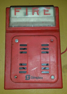 SIMPLEX FIRE ALARM Red Flash Horn Strobe Wall Mount Combo