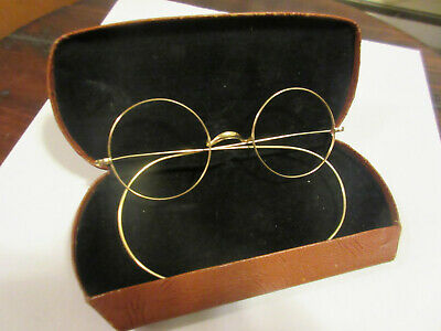 Beatles John Lennon Antique Vintage Genuine Signed Windsor Eyeglasses Xlnt Cond