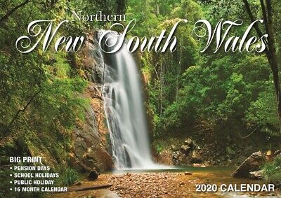 Northern NSW Australia - 2020 Rectangle Wall Calendar 16 Months by Bartel